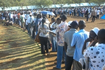 Voting in Kisumu