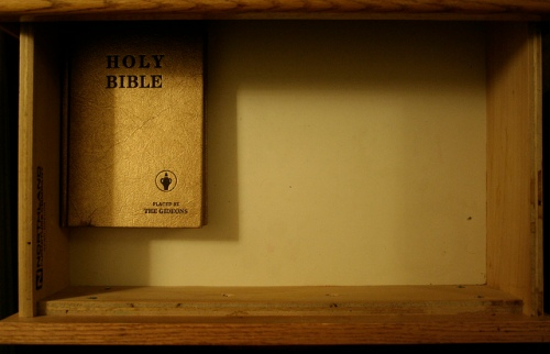 gideons bible drawer